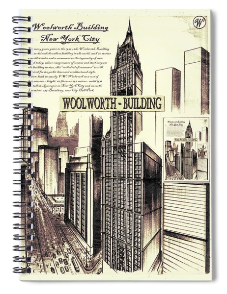 New York Woolworth Building 75 Spiral Notebook