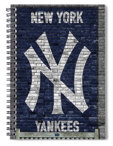 New York Yankees Brick Wall Spiral Notebook