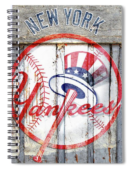New York Yankees Top Hat Rustic Spiral Notebook