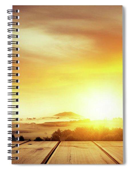 New Zealand View From Deck Spiral Notebook