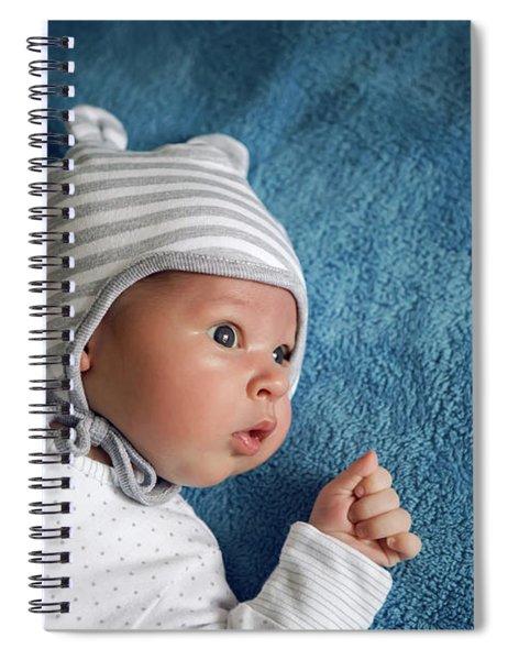 Newborn Lies In The Hat Spiral Notebook