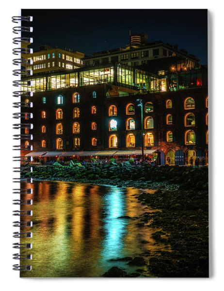 Newly Gentrified Warehouse At Night Spiral Notebook