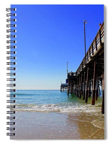 Newport Beach Pier Spiral Notebook