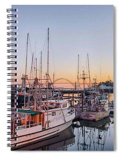 Newport Harbor At Dusk Spiral Notebook