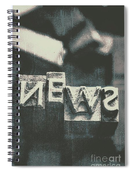 Newspaper Printing Press Art Spiral Notebook