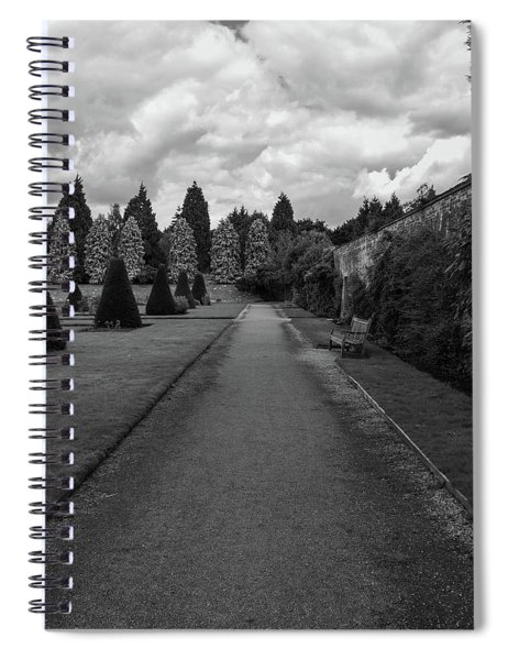 Spiral Notebook featuring the photograph Newstead Abbey Country Garden Gravel Path by Scott Lyons