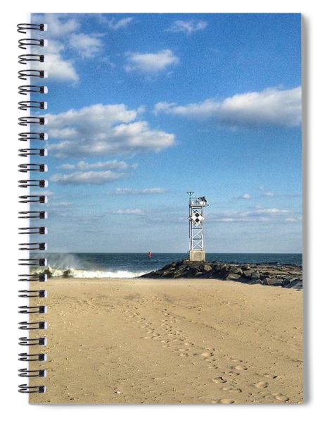 Nice Spring Waves Spiral Notebook