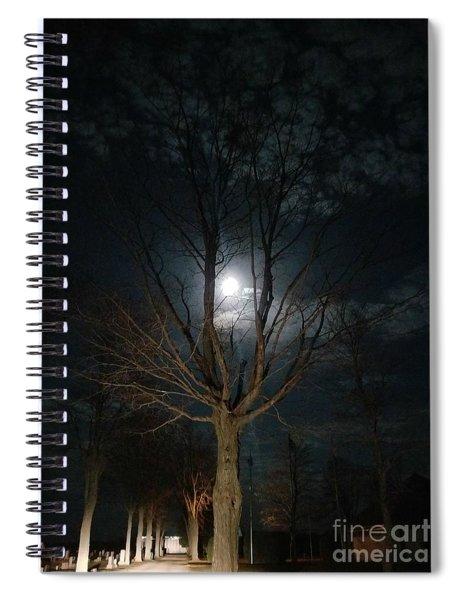 Night At The Graveyard Spiral Notebook