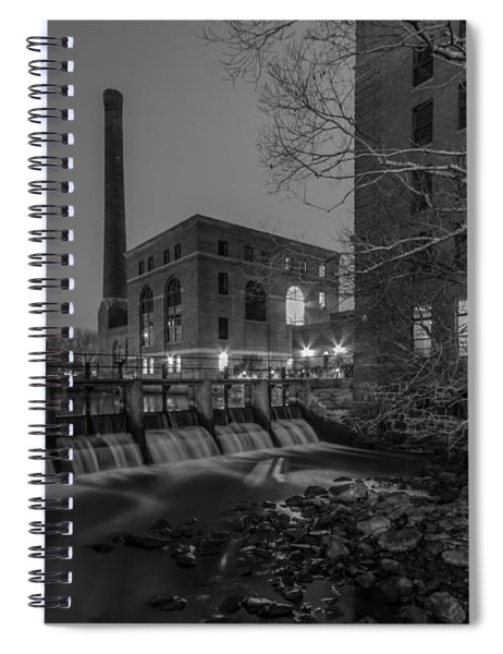 Night At The River 2 In Black And White Spiral Notebook
