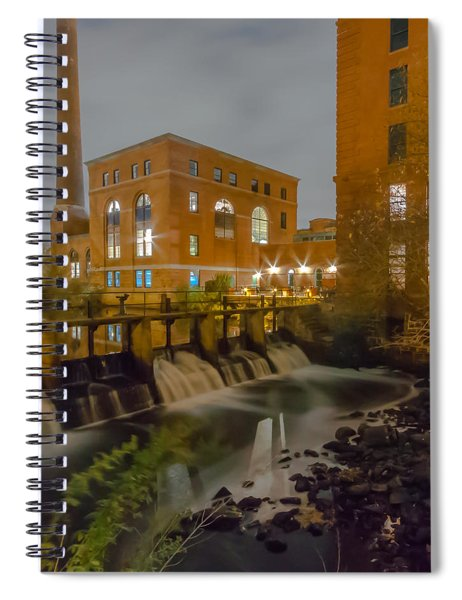 Night At The River Vertical Spiral Notebook