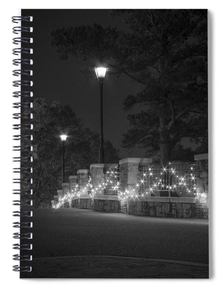 Night Bridge In December Spiral Notebook