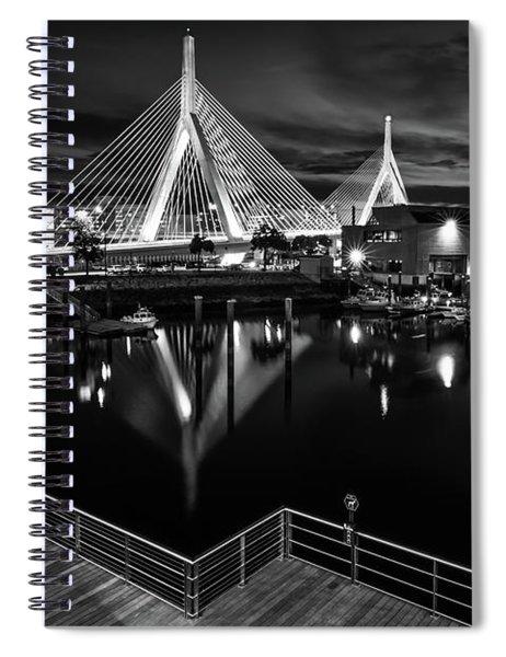 Night Falling On Zakim Bridge Spiral Notebook