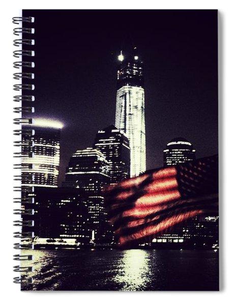 Night Flag Spiral Notebook