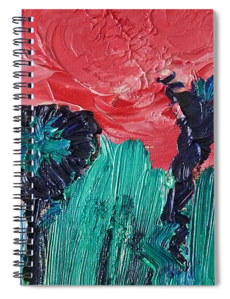 Night Flower Spiral Notebook