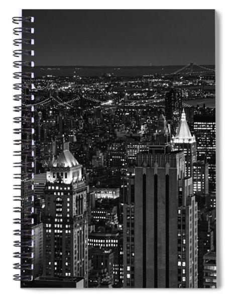 Night In Manhattan Spiral Notebook