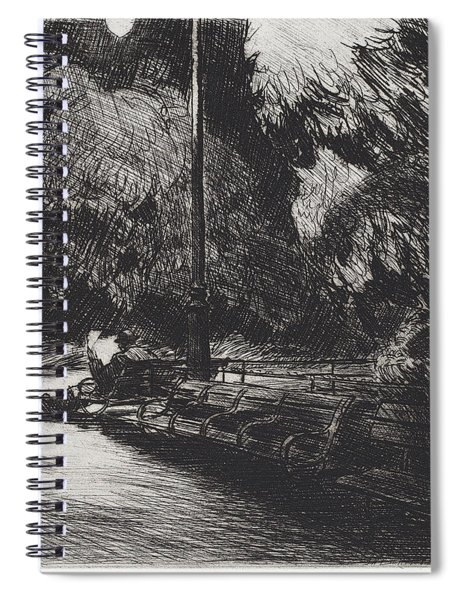 Night In The Park Spiral Notebook