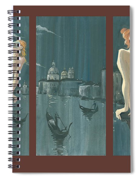 Night In Venice. Triptych Spiral Notebook