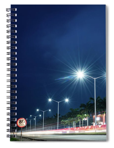 Night Lights In Montego Bay City Spiral Notebook