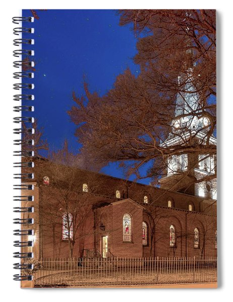 Night Lights St Anne's In The Circle Spiral Notebook