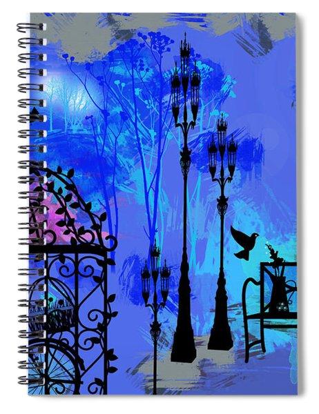 Night Love Garden  Spiral Notebook
