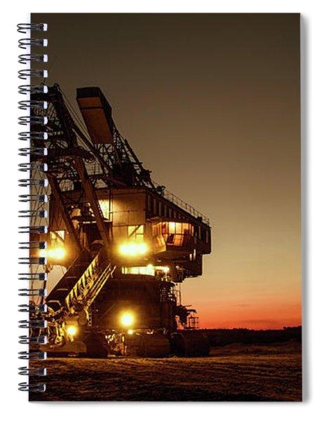 Night Mining Bucket Excavator Spiral Notebook