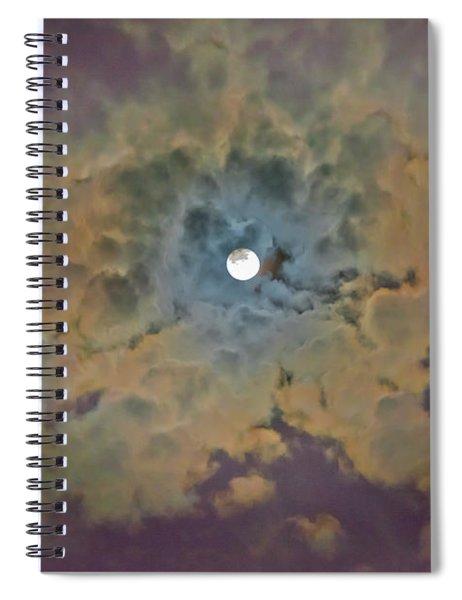 Night Moon Spiral Notebook