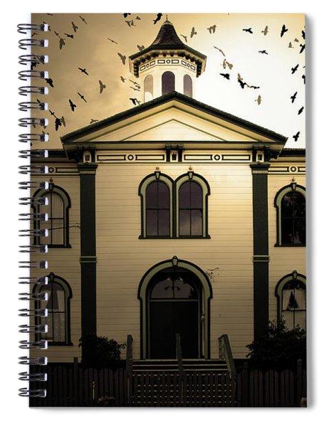 Night Of The Birds . Sepia . 7d12487 Spiral Notebook