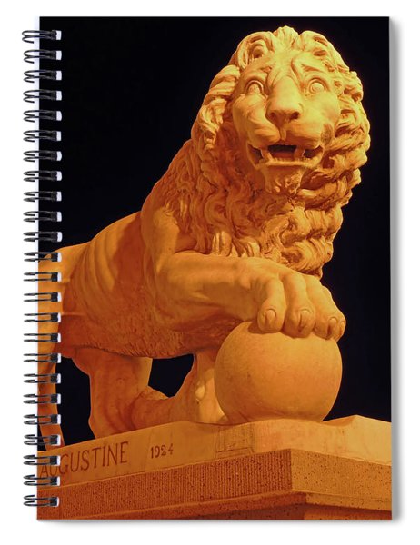 Night Of The Lion Spiral Notebook