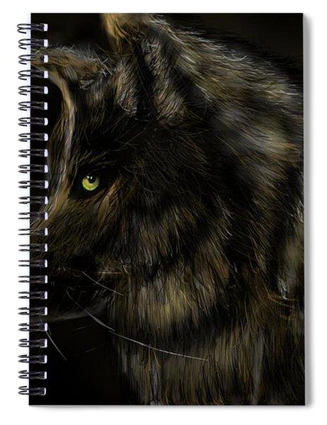 Night Silent Wolf Spiral Notebook