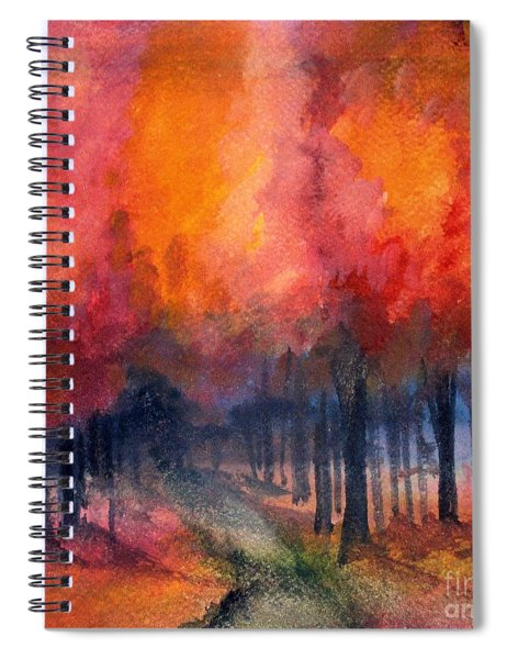 Night Time Among The Maples Spiral Notebook