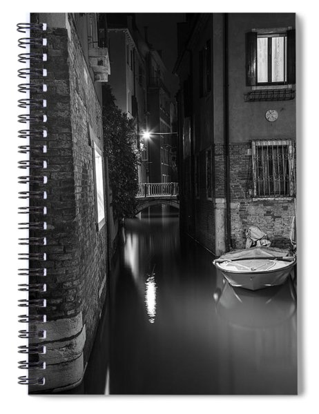Night Time Canal In Venice Italy  Spiral Notebook