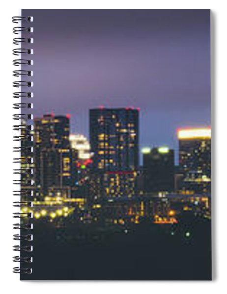Night View Of Downtown Skyline In Winter Spiral Notebook
