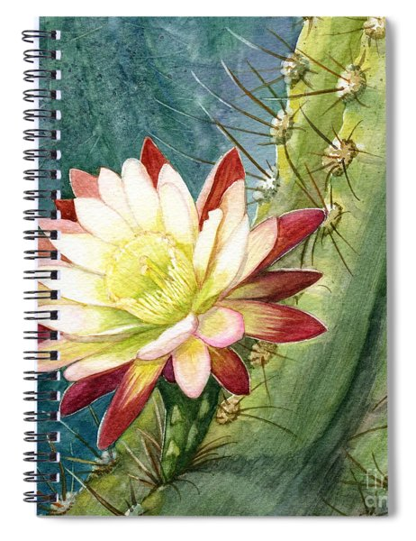 Nightblooming Cereus Cactus Spiral Notebook
