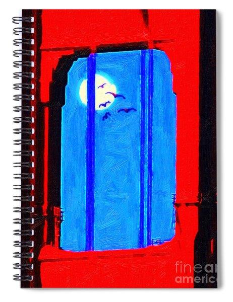 Nightfall Through The Golden Gate Spiral Notebook