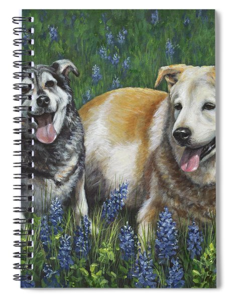 Nika And Winston Spiral Notebook