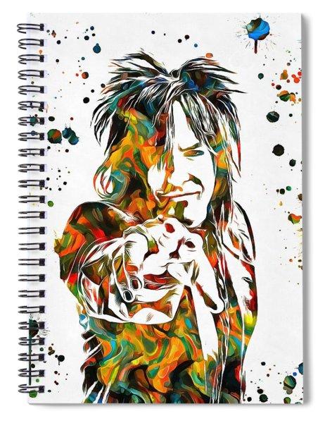 Nikki Sixx Paint Splatter Spiral Notebook