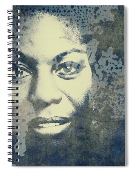 Nina Simone - Here Comes The Sun  Spiral Notebook