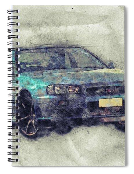 Nissan Skyline Gt-r 1 - Spors Car - Automotive Art - Car Posters Spiral Notebook