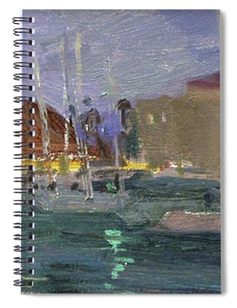 Nite Avalon Harbor - Catalina Island Spiral Notebook
