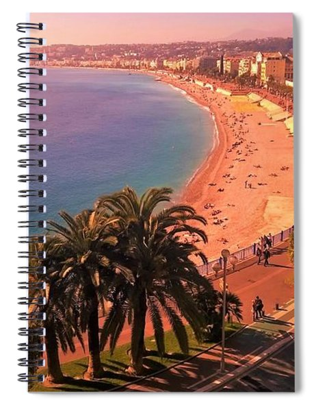 Nizza By The Sea Spiral Notebook