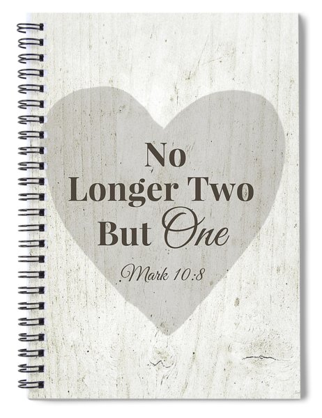 No Longer Two- Art By Linda Woods Spiral Notebook