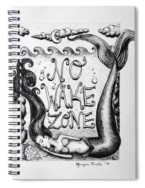 No Wake Zone, Mermaid Spiral Notebook