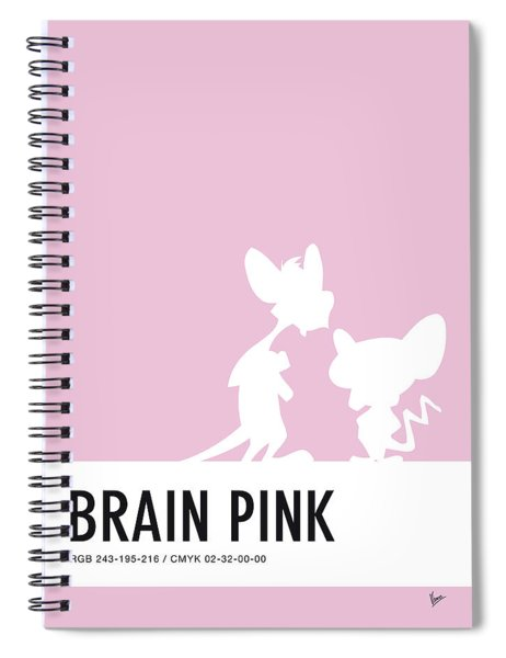 No01 My Minimal Color Code Poster Pinky And The Brain Spiral Notebook