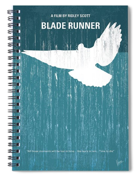 No011 My Blade Runner Minimal Movie Poster Spiral Notebook