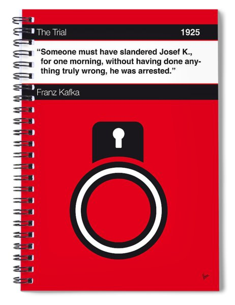 No013-my-the Trial-book-icon-poster Spiral Notebook