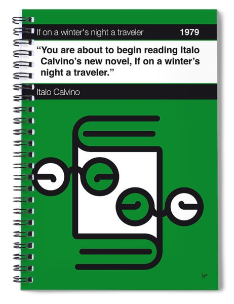 No014-my-if On A Winter's Night A Traveler-book-icon-poster Spiral Notebook