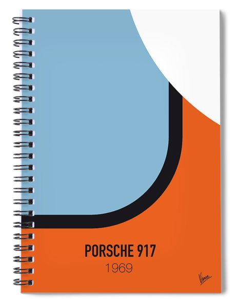 No016 My Le Mans Minimal Movie Car Poster Spiral Notebook
