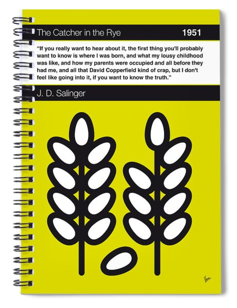 No016-my-the Catcher In The Rye-book-icon-poster Spiral Notebook