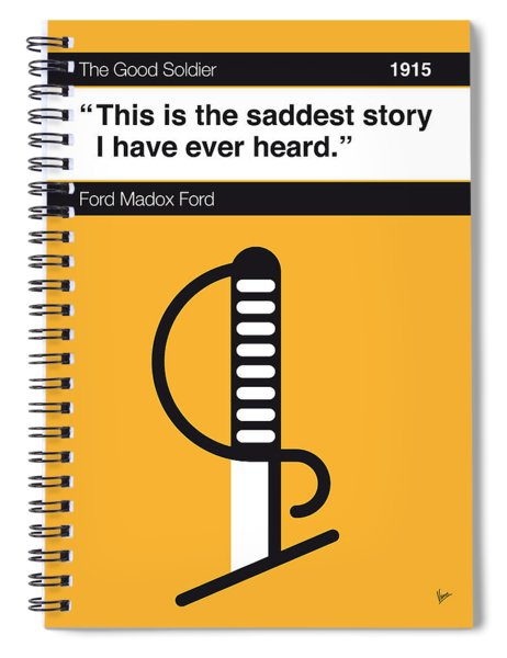No018-my-the Good Soldier-book-icon-poster Spiral Notebook