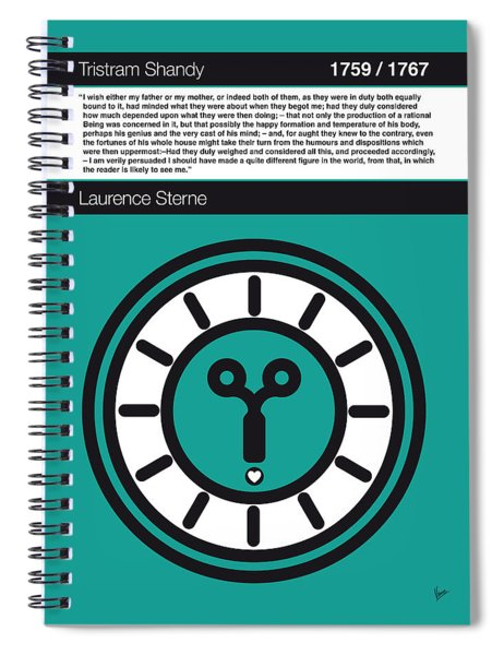No019-my-tristram Shandy -book-icon-poster Spiral Notebook